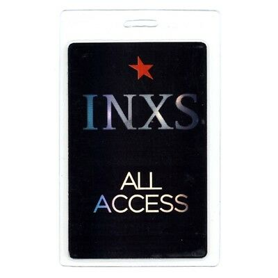 INXS authentic 2000's concert tour Laminated Backstage Pass ALL ACCESS Black