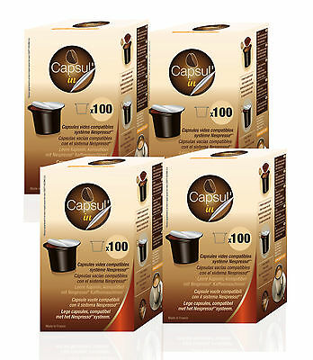 ** INTERNATIONAL BUYERS SUPER SPECIAL ** 400 NESPRESSO fillable capsules