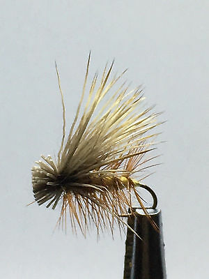 12QTY ELK HAIR CADDIS YELLOW Fly Fishing Flies size 12 & 14
