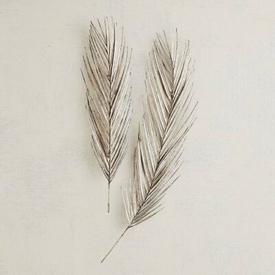 """10.5""""W  Palm Leaf Antique Nickel Large Pure Brass Nickel-plated Finishes Realist"""