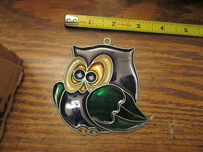 Owl  Suncatcher Sun Catcher Stained Glass-style window hanging