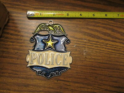 Police Badge Suncatcher Sun Catcher Stained Glass-style window hanging
