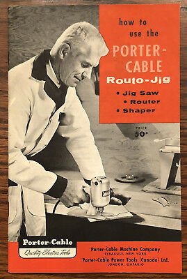 RARE VINTAGE BOOK How to Use Porter-Cable Routo Jig Model 140 Router Jigsaw