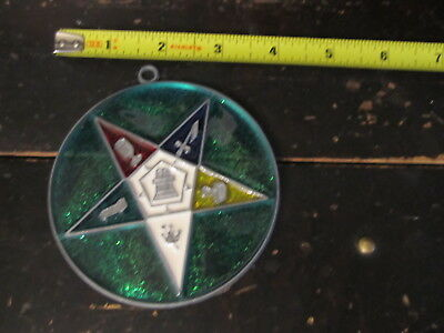 Mason Symbol Suncatcher Sun Catcher Stained Glass-style window hanging