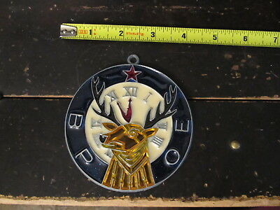 BPOE Elks Symbol Suncatcher Sun Catcher Stained Glass-style window hanging