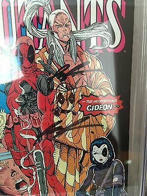 The New Mutants #98 (Feb 1991, Marvel) CGC 9.2 Sign And Sketch By Liefeld, Lee