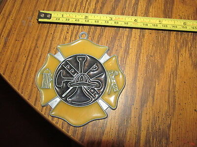 Fireman Suncatcher Sun Catcher Stained Glass-style window hanging #2
