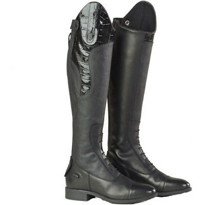 Just Togs Saliano Competition Womens Boots Long Riding - Black All Sizes