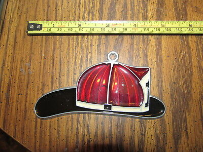 Fireman Helmet Suncatcher Sun Catcher Stained Glass-style window hanging