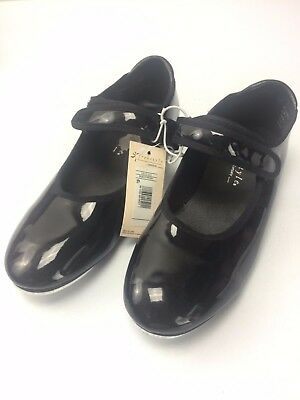 New Freestyle by Danskin Girls Children Tap Dance Shoes - Black Size 1