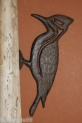 (2) Pileated Woodpecker, Cast Iron, husband gift, woodpecker gift,wildbirds