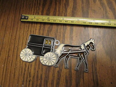 Horse & Carriage Suncatcher Sun Catcher Stained Glass-style window hanging