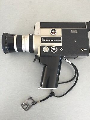 Canon Auto Zoom 518 Super 8 VIntage Camera and Canon Carry Case Untested