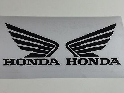 "2 pc HONDA Wing  Motorcycle Tank decal sticker Size 4""-6"""