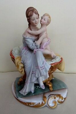 Capodimonte Porcelain Figure of Mother & Child