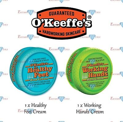 O'Keeffe's Working Hands Cracked Split Skin Non-Greasy - Hand & Foot Cream Set