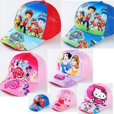 Paw Patrol My little pony Peppa pig Kids Canvas Adjustable Sun Baseball Cap Hats