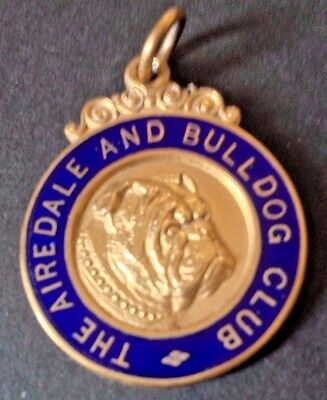 Antique 1927 The Airedale Bulldog Club ,  Medal.named Master Anthonie