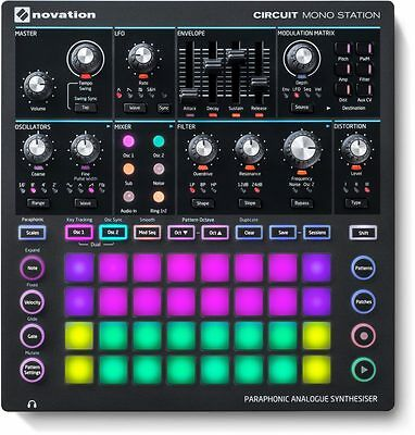 Novation Circuit Mono Station  Paraphonic Analog Synthesizer with Sequencer
