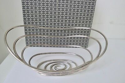 Lino Sabattini cestino - center piece/basket silver plate vintage