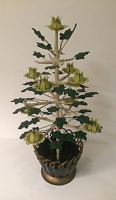 "Vintage Italian Tole Metal 12"" Tree Centerpiece ~ Very Charming ~"