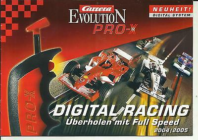 Katalog Carrera Evolution Pro-X Digital Racing Neuheiten Slotcars 2004/05