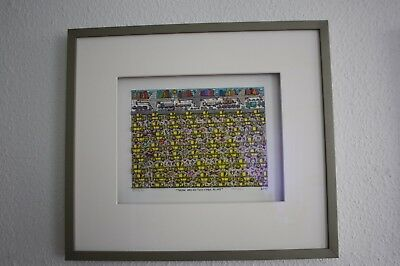 "James Rizzi Original 3D Grafik 2007 ""there Are No Two Cabs Alike"" Handsigniert"