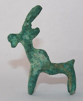 Ancient Bronze Age Holy Land Goat Figure   #m-094