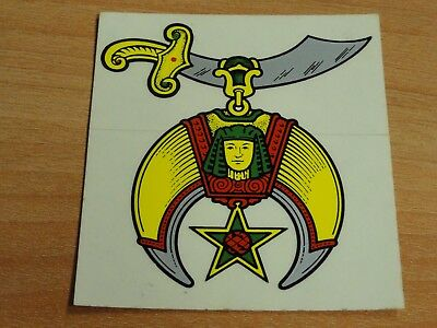 Vintage Masonic Shriners Travel Paper Vinyl Decal