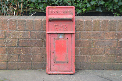 vintage genuine post office post box front pillar box old red letter - FREE POST