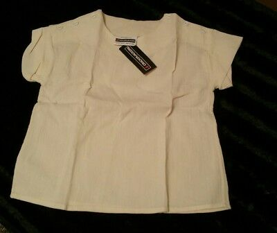 Vintage 1970s cheesecloth top Age 8 100% cotton BNWT Crackerjackers