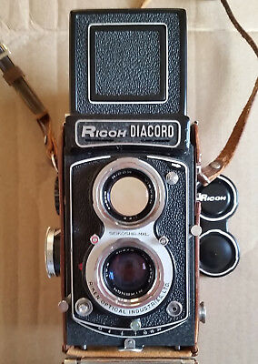 Ricoh Diacord L with Light Meter Great Condition TLR 120mm Camera