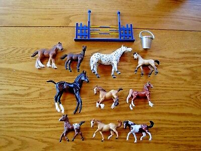 Vintage  Horse Toy Mixed  Lot of 12 Breyer Schleich HORSES PONIES ACCESSORIES
