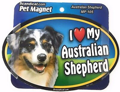 I LOVE MY AUSTRALIAN SHEPARD  Dog Gifts, Cars, Trucks. Lockers, Refrigerator