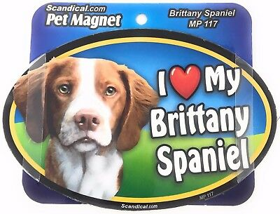 I LOVE MY BRITTANY SPANIEL Dog Gifts, Cars, Trucks. Lockers, Refrigerator