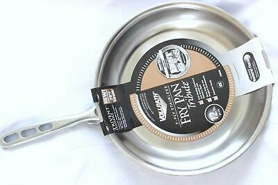 "NEW Vollrath 69212 Tribute 3-Ply Fry Pan Stainless Steel 12"" NSF Listed $132 NWT"