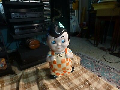 Vintage BOB'S BIG BOY PLASTIC STILL PIGGY BANK W/ No Stopper !