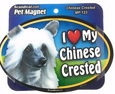 I LOVE MY CHINESE CRESTED  Dog Gifts, Cars, Trucks. Lockers, Refrigerator
