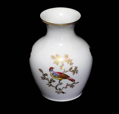 Vintage Spode pretty rainbow bird small bud vase in lovely condition