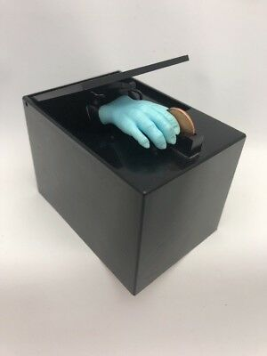 The Thing Hand Little Black Box Coin Bank Poynter Products1978 Blue Hand -Parts