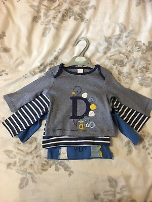 Mini Club Baby Boy 0-3 Months Set Of 3 Tops