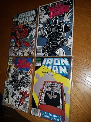 IRON MAN issues 281, 282, 283 ,284 WAR MACHINE 1st APPEARANCE Marvel comics 1992