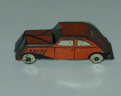 Cracker Jack Premium Lithographed Tin Automobile Red & Silver USA 1930s