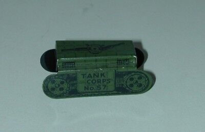 Cracker Jack Prize Lithographed Tin US Army Tank Corps No. 57 USA 1930s