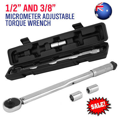"""Adjustable Torque Wrench 1/2 3/8"""" Drive Ratchet Wrench 28-210Nm Ratchet Spanner"""