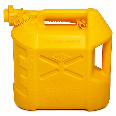 New Willow 10L Diesel Jerry Can w/ Detachable Non-Spill Nozzle Car Travel