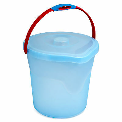 New Willow 12L Bucket w/ Lid  Laundry Storage Washing Everyday Blue