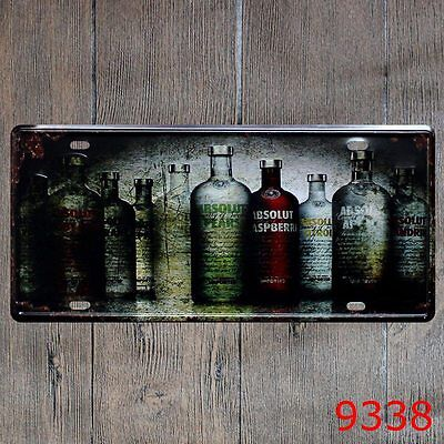 Metal Tin Sign absolute vodka Decor Bar Pub Home Vintage Retro Poster Cafe ART