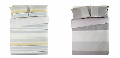 Hygena Stripe Bedding Set - Choice of Colour and Size