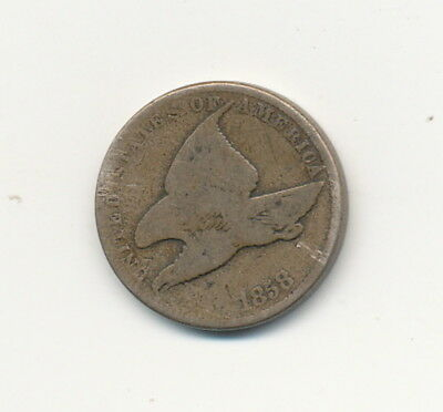 1858 Flying Eagle One Cent Penny Exact Coin Shown - FREE Shipping!
